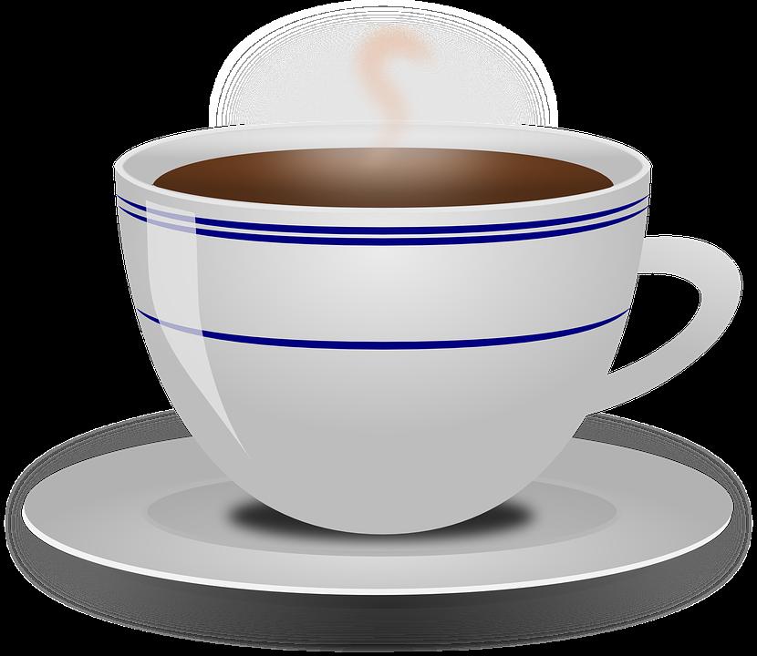 kaffee in tasse aus espressomaschine